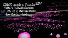this is so beautiful, i'm crying 161113 BTS 3rd Muster ~ Day 2- Beautiful Purple ARMY BOMB Ocean !! Bts 3rd Muster, Together Forever, Kpop Groups, Dramas, Crying, Army, Corner, Ocean, Purple