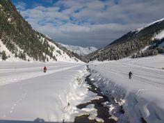 Cross country skiing in #Luesens - #Sellraintal - Austria