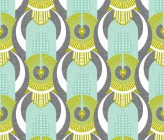 Art Deco Rio De Janeiro fabric by zesti for sale on Spoonflower - custom fabric, wallpaper and wall decals