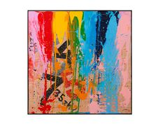 Smash Painting with Black Gallery Frame