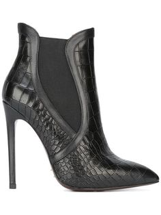 Shop Gianni Renzi stiletto ankle boots in Biondini Paris from the world's best independent boutiques Ankle Boots, High Heel Boots, Heeled Boots, Bootie Boots, Shoe Boots, High Heels, Stiletto Boots, Black Stilettos, Hot Shoes