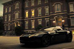 All Black Aston Martin Vantage.