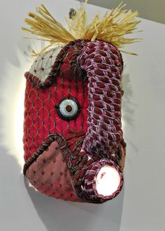 Shop our collection of beautiful textile African masks, handmade from upcycled containers and embellished with an assortment of local fabrics and other media by local artisans in Hout Bay, South Africa. African Masks, Artisan, Banana, Textiles, Contemporary, Fabric, Handmade, Beautiful, Collection