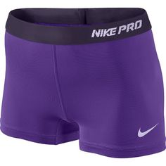 Shop Women's Nike size L Shorts at a discounted price at Poshmark. Description: Purple Nike Pro shorts with a pink band. Never worn. No splitting and no pilling. Nike Pro Spandex, Nike Pro Shorts, Gym Shorts Womens, Running Shorts, Volleyball Spandex Shorts, Volleyball Outfits, Nike Sweatpants, Running Gear, Nike Running