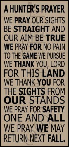 Another Hunter's Prayer