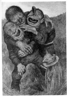 theodor kittelsen A three-headed troll