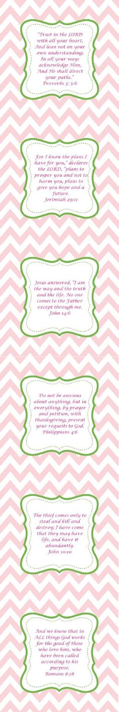 Printable bible verses for your kids. Writing your favorite bible verses on note cards is another great way of sharing with your child