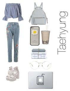 """""""Study date with taehyung ❤"""" by btssuga02 ❤ liked on Polyvore featuring Fendi and Linda Farrow"""