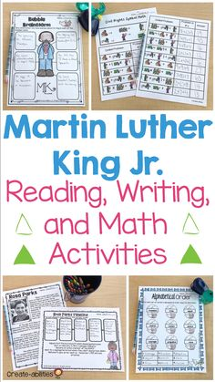 Martin Luther King Jr. Reading and Writing Activities - Your 2nd, 3rd, 4th, 5th, and 6th grade classroom or home school students are going to enjoy working on math, reading, and writing activities this holiday season. Celebrate MLK Jr. with reading passages, grammar practice, writing activities, math lessons, and more. These work great for Black History Month, cultural awareness, & more. (second, third, fourth, fifth, sixth graders, homeschool) Grammar Practice, 5th Grade Classroom, Reading Passages, Winter Ideas, King Jr, Elementary Math, Martin Luther King, Writing Activities, Math Lessons