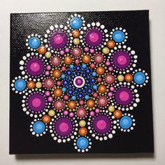Hand Painted Mandala on Canvas, Meditation, Dot Art, Healing, Calming, #389 by MafaStones on Etsy