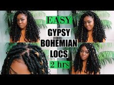 NEW Gypsy Bohemian Locs | Quick & Easy | ONLY 2 HOURS | Carefree Boho Style [Video] - Black Hair Information