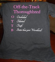 OTTB Better than your Warmblood fitted tee by InClassicFashion, $28.00