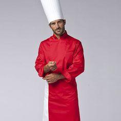 Giacca Cuoco Manuel Rosso Natale in polycotton, con taschino su petto e manica. Inserti in rete traspirante. Disponibile in diverse taglie nel colore ROSSO.