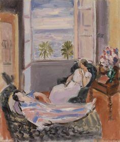 (via The Barnes Foundation - Object - Henri Matisse - Interior with Two Figures, Open Window (Intérieur avec deux figures, fenêtre ouverte))