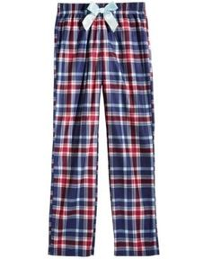 Max & Olivia Plaid Sleep Pants, Little Girls (4-6X) & Big Girls (7-16), Created for Macy's - Blue 10/12