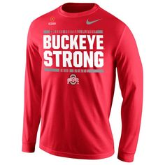Ohio State Buckeyes Nike 2016 College Football Playoff Bound Buckeye Strong  Long Sleeve T-Shirt