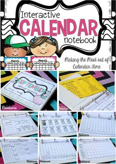 A fun way to keep your students engaged during calendar time! Try interactive calendar notebooks!