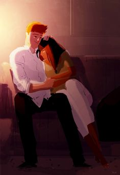 Just hold me. _I do, I do want to hear about it all, but right now, I just need you to hold me. Just hold me. Family Illustration, Illustration Art, Pixiv Fantasia, Just Hold Me, Pascal Campion, My Sun And Stars, Interracial Love, Couple Art, Cute Love