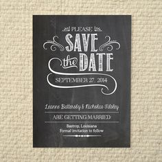 Wedding save-the-date - handlettered chalkboard love - diy printable pdf te Diy Save The Dates, Wedding Save The Dates, Save My Marriage, Marriage Advice, Typography Invitation, Identity, Hand Type, Wedding Invitation Design, Wedding Stationary