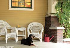Our pretty front porch. Shasta, our dog child, is famous! :) Laurelhurst Craftsman Bungalow: Alex Vertikoff's Photos