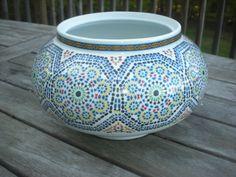 Good Cocema Fes Maroc Art China Planter Vase. Moroccan GardenMosaicBalconyCheck PlantersDining ...