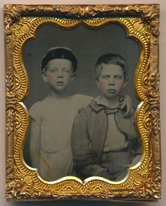 1860's Ruby Ambrotype 1 9 Plate Civil War Kepi Boys Antique Photograph 142…