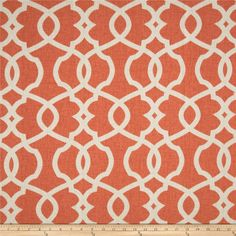 Magnolia Home Fashions Emory Tangerine-This would look nice as curtains or on accent pillows for the futon.