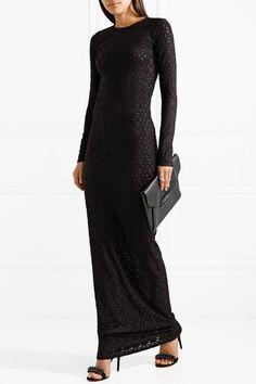 Black devoré stretch-jersey Slips on 56% viscose, 29% nylon, 15% elastane Hand wash Made in Italy