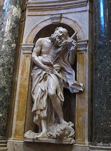 Saint Jerome - Gian Lorenzo Bernini.  1661-63.  Marble.  Chigi Chapel, Siena Cathedral, Siena, Italy.