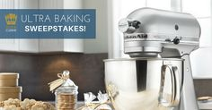 Just in time for the #holidaybaking season. Prize package includes a KitchenAid Artisan Stand Mixer and an assortment of @UltraCuisine Premium Products. #contest #giveaway