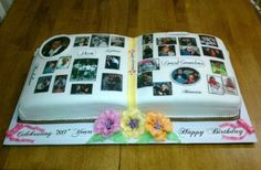 Picture Book 80th Birthday Cake Idea.  See more cake and party ideas at one-stop-party-ideas.com.