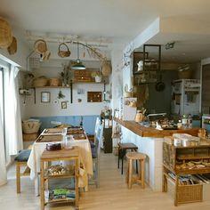 makkyfoneさんの、部屋全体,DIY,古道具,カフェ風,キッチンカウンター,かもめ食堂,ナチュラルインテリア,お家カフェ,見せる収納,マンションインテリア,かご収納,セルフリノベーション,暮らし,北欧ナチュラル,吊るす収納,のお部屋写真