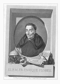 Florez, Enrique (1702-1773), author of: Medallas de las Colonias, Municipios y pueblos antiguos de España. (2 vols.: 1757-1758); engraving by Carmona in 1773