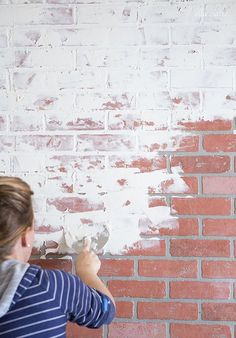 How to German Smear/ German Schmear Faux Brick Wall