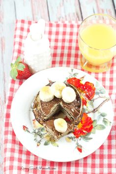 2 Ingredient Banana Pancakes -  2 eggs and a banana in a blender! That's it. They are gluten free and so delicious.