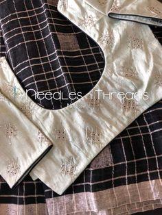 Saree Blouse Patterns, Designer Blouse Patterns, Saree Blouse Designs, Blouse Styles, Saree Styles, Aari Work Blouse, Simple Sarees, Blouse Models, Fancy Sarees