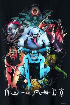 Shazam promo art of the Seven Deadly Sins Captain Marvel Shazam, Black Adam Shazam, Shazam Movie, Dr Fate, Justice League Dark, 7 Sins, Dc Comics Art, Creepy Art, Superhero Movies