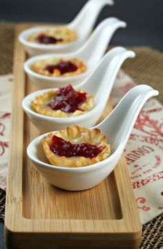From Kitchen Confidante: Cranberry, Orange & Ginger Chutney Brie Cups  #fingerfood #shopfesta #louçasfingerfood