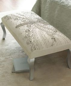 """Shop """"Eliza"""" Ottoman from Haute House at Horchow, where you'll find new lower shipping on hundreds of home furnishings and gifts. Dragonfly Decor, Dragonfly Clothing, Dragonfly Jewelry, Banquette, Decoration, Home Furnishings, Furniture Design, Upholstery, Bedroom Decor"""