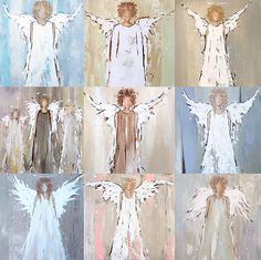 Pick your favorite angel and have her printed by There are also a few of the originals still available, DM me or comment below for more information. An angel might just cheer up a loved one this Christmas 🎄 Tole Painting, Painting & Drawing, Watercolor Paintings, Angel Paintings, Angel Decor, Angel Art, Christmas Angels, Christmas Art, Angel Crafts
