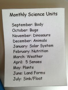 Setting up a science center.pick themes to cover throughout the year. Setting up a science center.pick themes to cover throughout the year. Preschool Lesson Plans, Preschool At Home, Preschool Science, Preschool Classroom, Teaching Science, Science For Kids, In Kindergarten, Preschool Themes By Month, Science Ideas