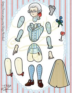 Articulated Paper Doll Max Robespierre by RivkaZ on Etsy