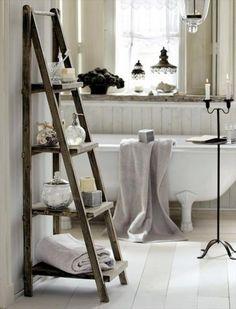 20 DIY Ladder Shelf Ideas - Creative Ways to Reuse Old Ladder   NewNist