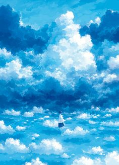 An image that focuses more on the scenery and landscape itself, rather than on the character. Zerochan has Scenery anime images, and many more in its gallery. Sky Anime, Anime Art, Sky Art, Anime Scenery, Fantasy Landscape, Landscape Illustration, Aesthetic Art, Images, Residential Landscaping