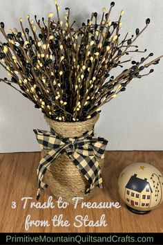 I'm forever bringing things home, so from my stash, I'd like to show you 3 trash to treasure projects. Christmas Trees, Christmas Diy, Dollar Tree Flowers, Chicken Wire Frame, Trendy Home Decor, Trash To Treasure, Winter Ideas, Beaded Garland, Upcycled Furniture