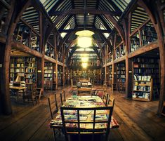 Barn Library like a cathedral