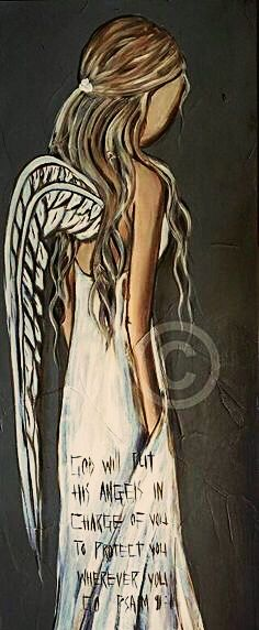That is so comforting to know. Angel Artwork, Angel Paintings, Unicorns And Mermaids, Prophetic Art, Angel Pictures, Angels Among Us, Rock Art, Canvas Art Prints, Watercolor Art