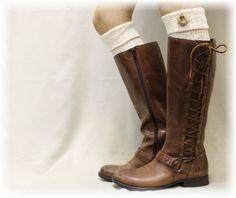 boot cuffs | ASPEN CUFFS Boot Toppers Ivory | boot cuffs women