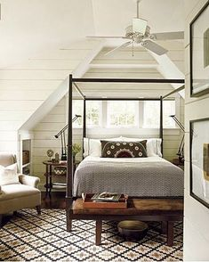 Lovely masculine bedroom in neutral tones... modern cottage in style