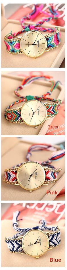 We love this geomtric aztec print watch band! Colorful and comfortable, this watch will go with everything! Get it! #WatchBands